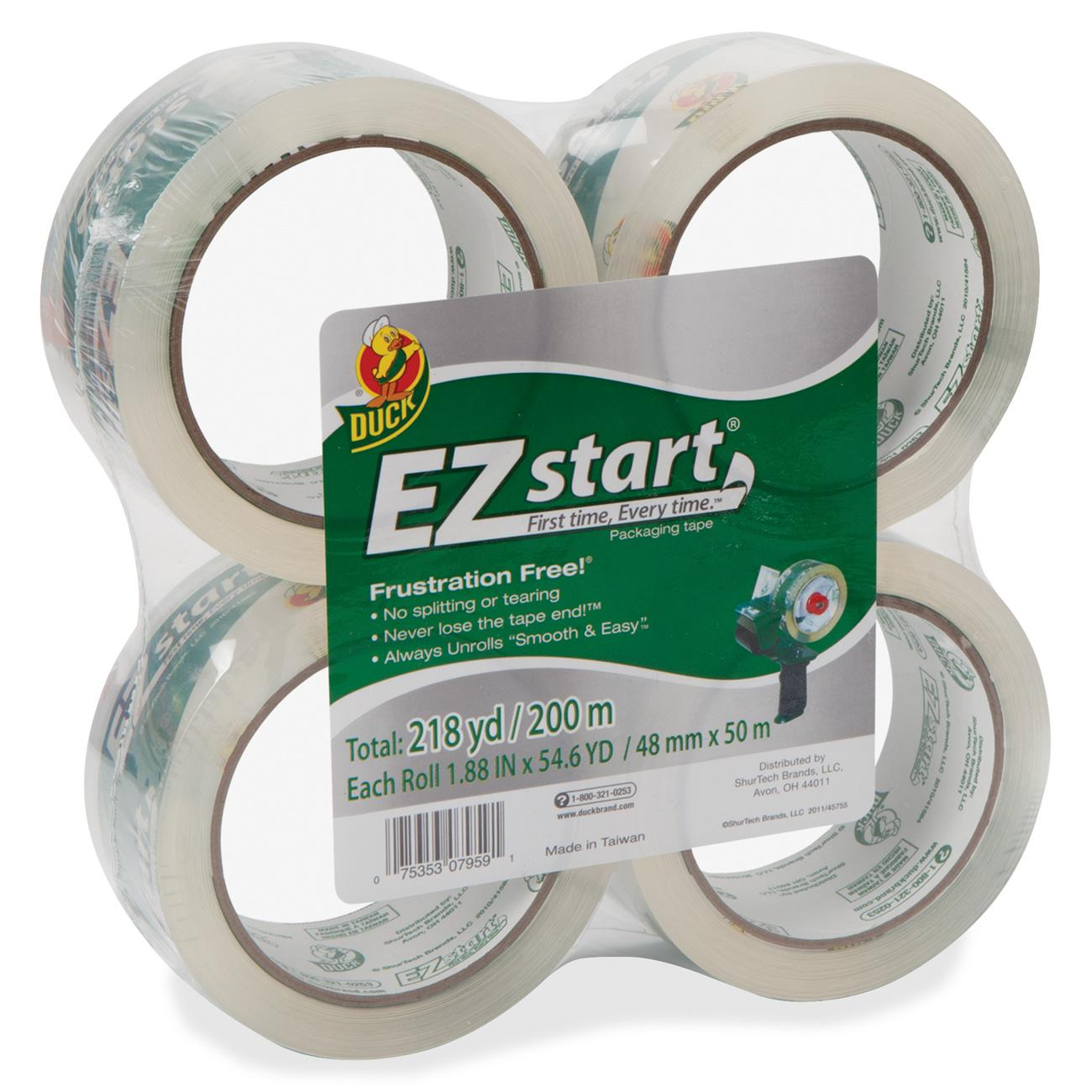 Duck EZ Start Crystal Clear Packaging Tape