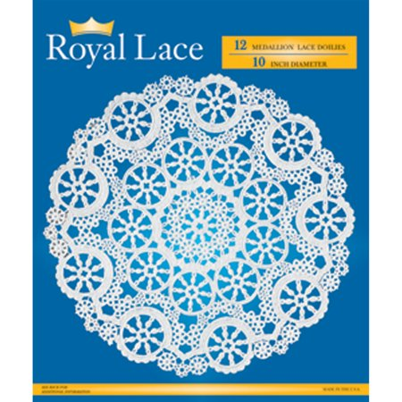 Royal Lace Paper Lace Doilies, White, 10