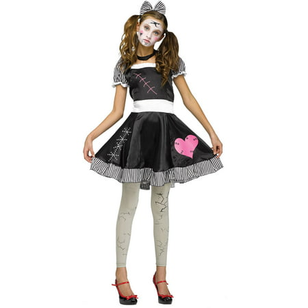 Broken Doll Teen Halloween - Girls Broken Doll Costume