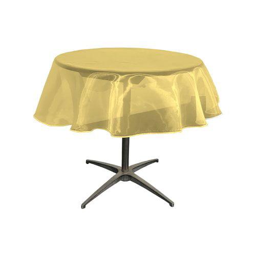 LA Linen Organza Round Tablecloth by LA Linen