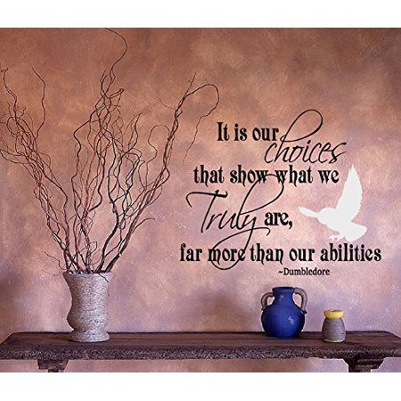 It is OUR CHOICES that show what we TRULY are Inspirational Quote Wall Decal 20 x 24