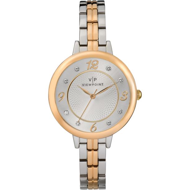 Viewpoint by Timex Women's 34mm Two-Tone Bracelet Watch