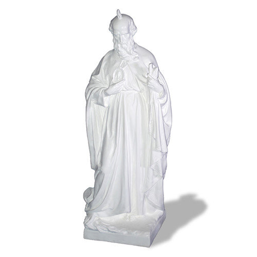 Resin Stone St. Jude Statue in White