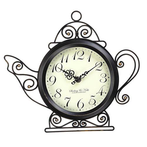 "Better Homes and Gardens 11.5"" Teapot Wall Clock"
