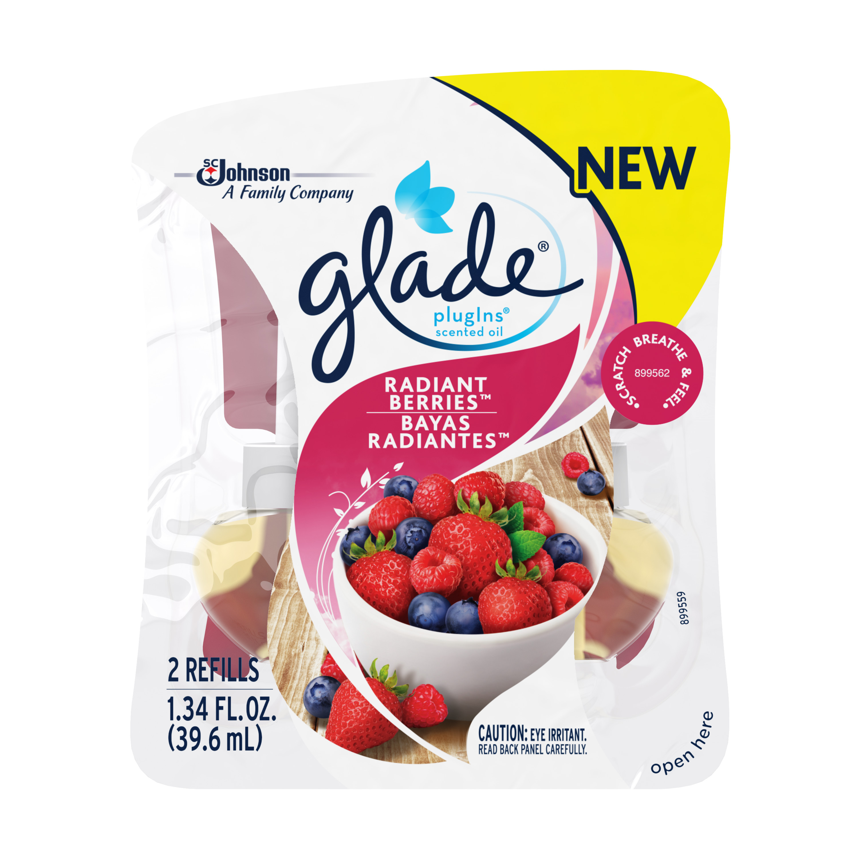 Glade Plug In Refill, Fresh Berries, 1.34 Fl. Oz. (Pack of 2)