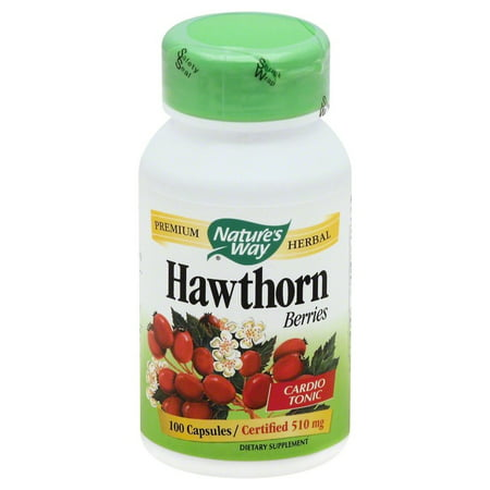 Hawthorn Herbal Supplement - Nature's Way Premium Herbal Hawthorn Berries, 100 Ct