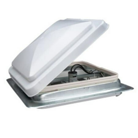 14 x 14 in. Standard Mount Universal Roof Vent with Fan, 12V - White