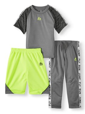 RBX T-Shirt, Tricot Pant and Performance Short, 3-Piece Outfit Set (Little Boys & Big Boys)
