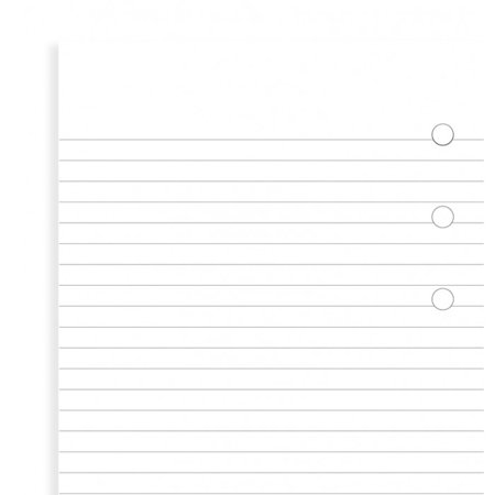 Personal Ruled Notepaper - Filofax - Papers Ruled - White - Notepad - Personal Size
