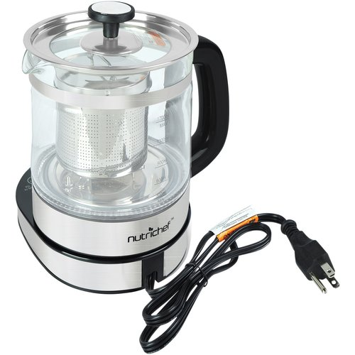NutriChef Electric Glass Tea Kettle