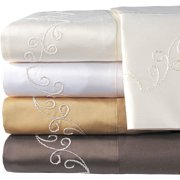 Veratex, Inc. Supreme Sateen 800-Thread Count Scroll Pillowcases, 2pk