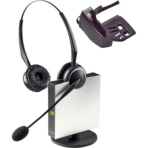 Jabra Wireless Flexboom Duo Headset With Noise Canceling Microphone