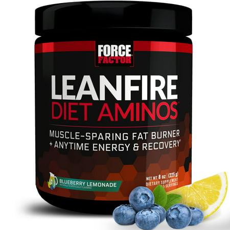 Force Factor LeanFire Diet Aminos, Blueberry Lemonade, 45 -