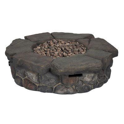 Bond Manufacturing Garden Treasures 42-In W 50,000-Btu Brown Composite Propane Gas Fire P