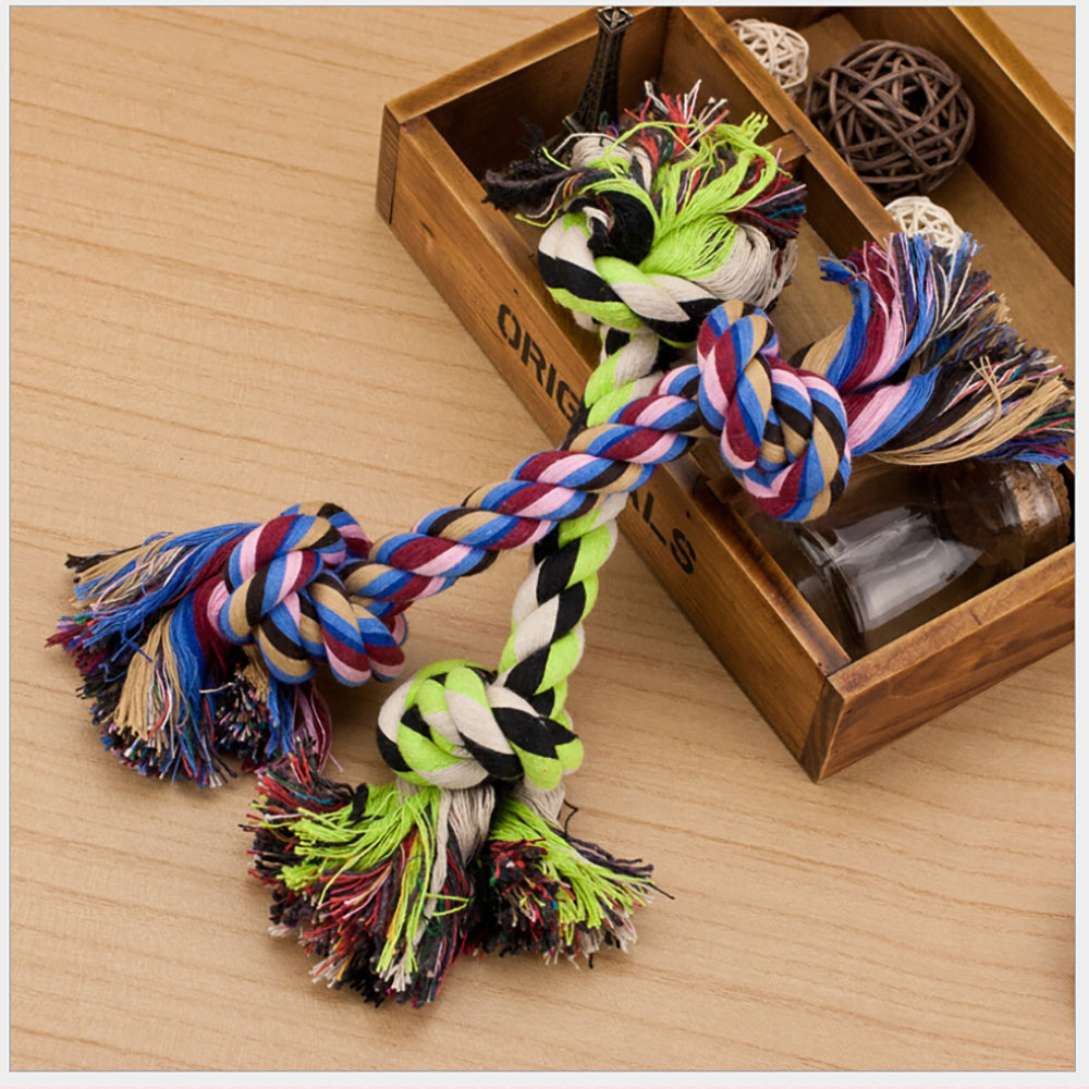 CoastaCloud Knotted Rope Dog Bone Rope Toy Random Color, 2pcs