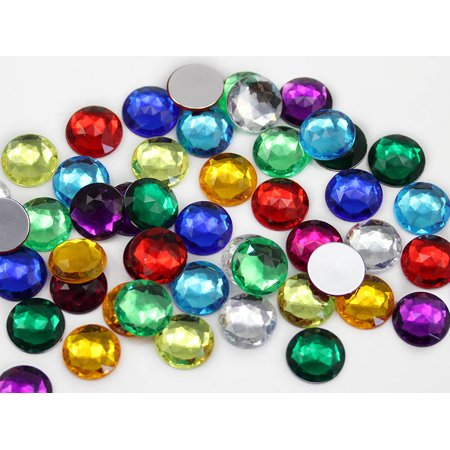 Round Acrylic Gemstones High Quality Pro Grade 25Mm Assorted Colors   72 Pieces