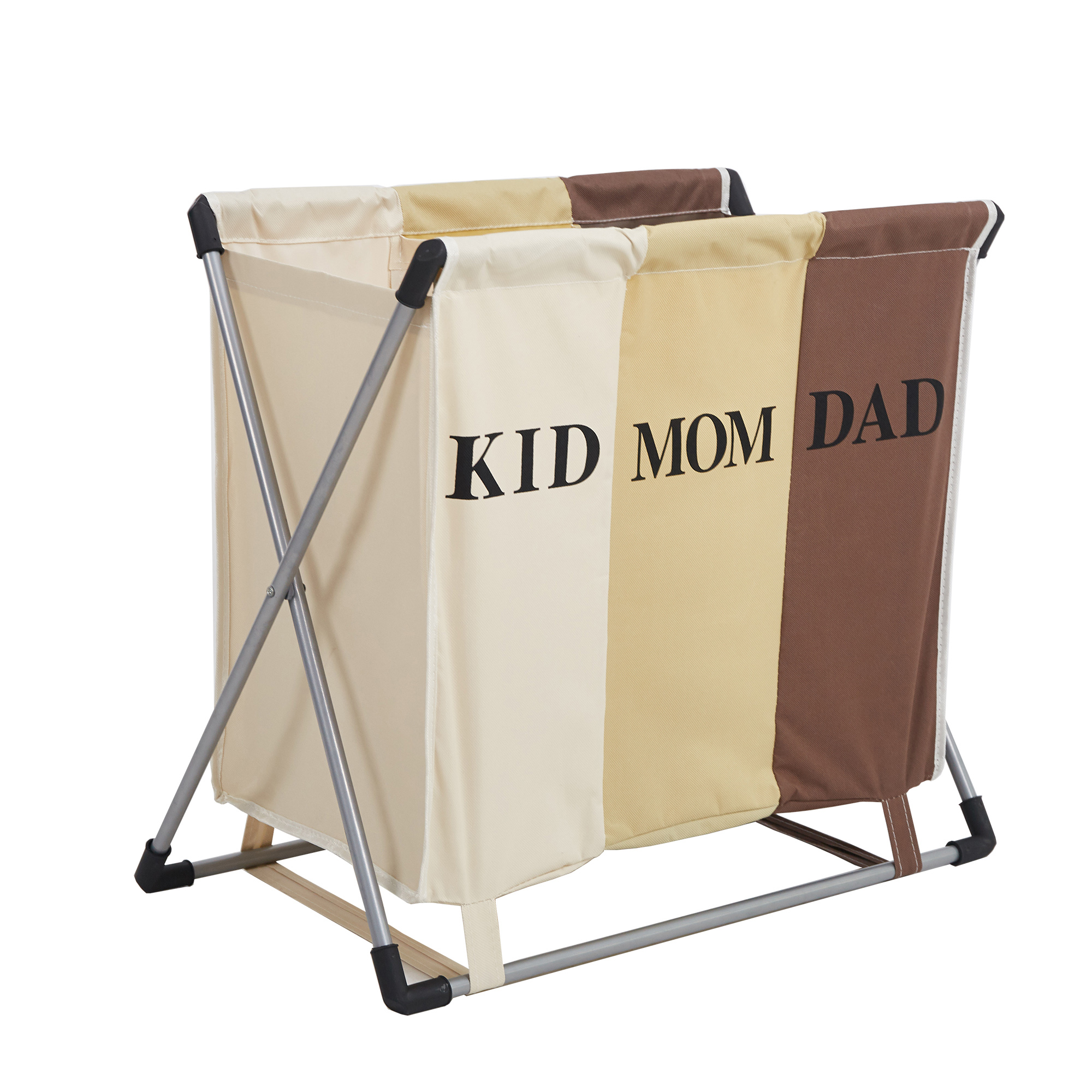 Karmas Product 3 Section Laundry Hamper Basket With X