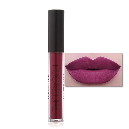 Yosoo FOCALLURE 15 Types Matte Long Lasting Waterproof Moisturizing Lip Gloss Makeup Cosmetic, Lip Balm, Matte Lip Makeup ()