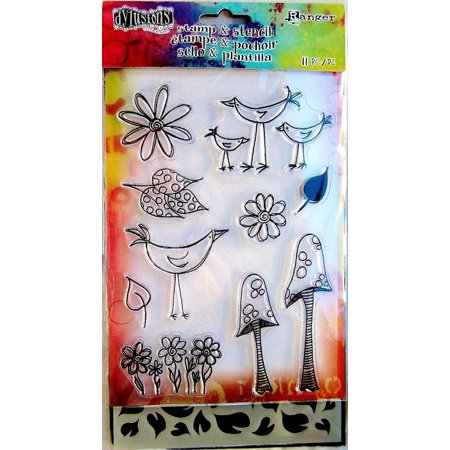 Stamps & Stencil - Garden Leaves, This item is used for Scrapbook, Card Making, Paper Crafting & Mixed Media. By