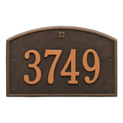 Personalized Whitehall Products™ Cape Charles 1- Line Address Plaque in bronze
