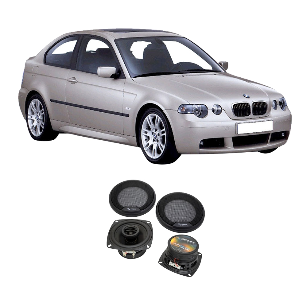 Fits BMW 3 Series 1999-2001 Rear Deck Replacement Speaker Harmony HA-R4 Speakers