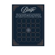 Navy Blue Art Deco Vintage Party Baby Shower,  Baby Bingo Game Cards, 20-Pack, Games