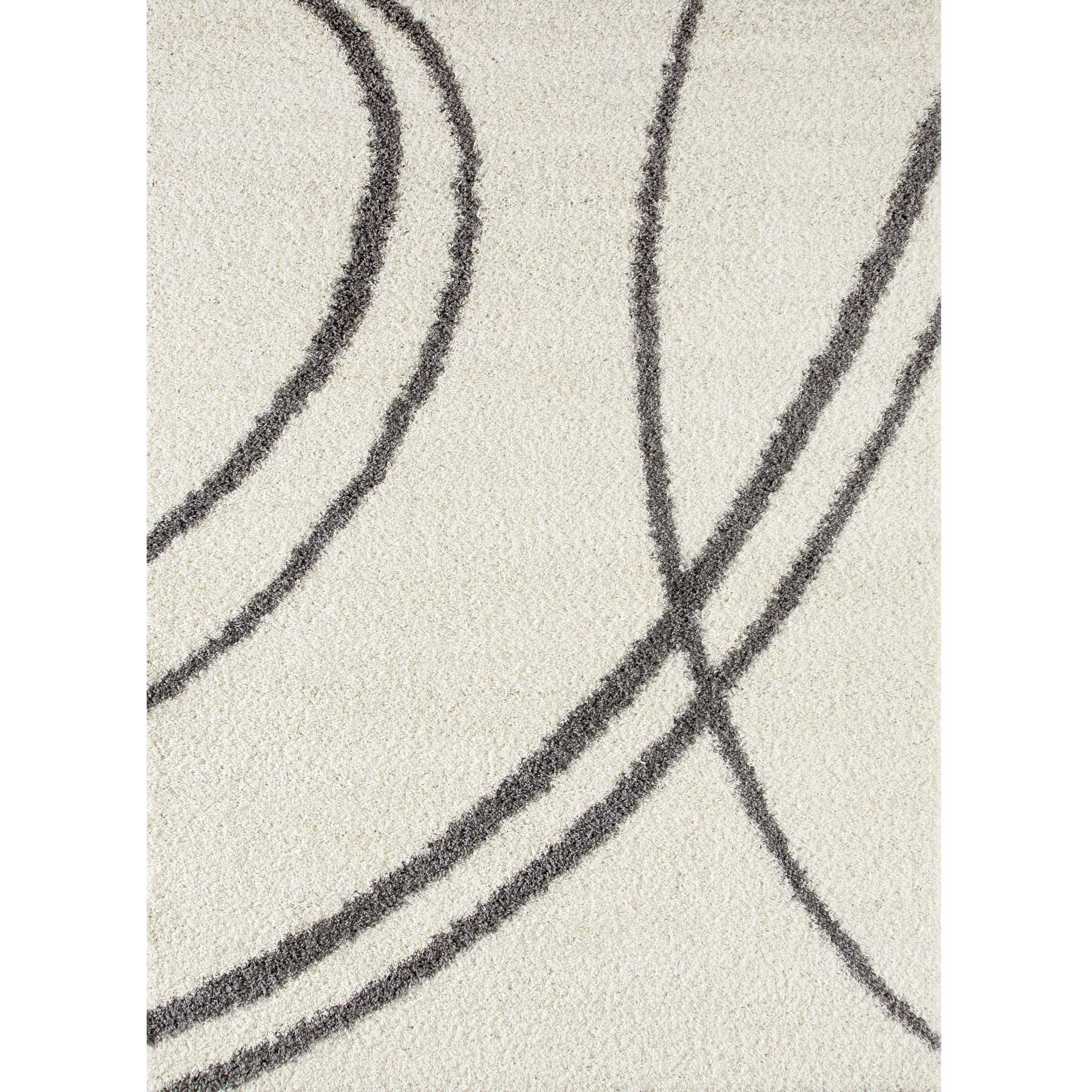 World Rug Gallery Soft Cozy Contemporary Stripe Indoor Shag Area Rug