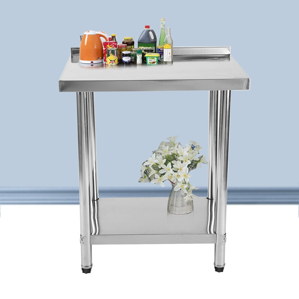 Kitchen Table Stainless Steel Kitchen Work Bench Multifuntional 2 Layers Food Prepar Desk