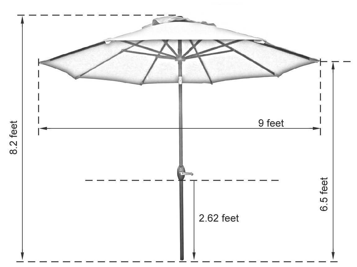 umbrella home resistant overstock shipping wind and patio garden product corliving free uv today tilting