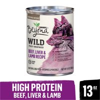 Purina Beyond High Protein, Grain Free, Natural Pate Wet Dog Food; WILD Beef, Liver & Lamb Recipe (Various Sizes)