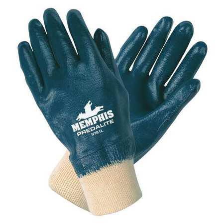 """MCR SAFETY Coated Gloves,Full,S,10-1/2"""",PR 9781S"""