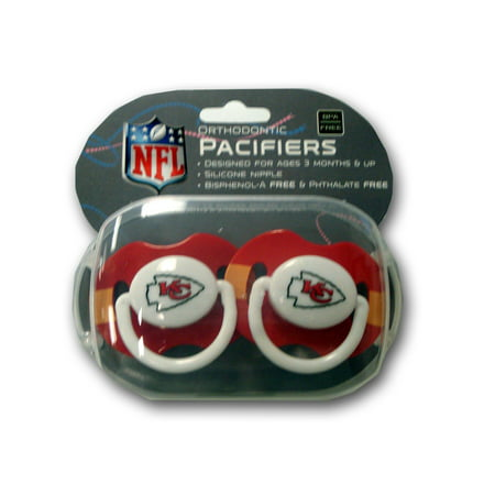 2 pack Pacifiers - Kansa City Chiefs