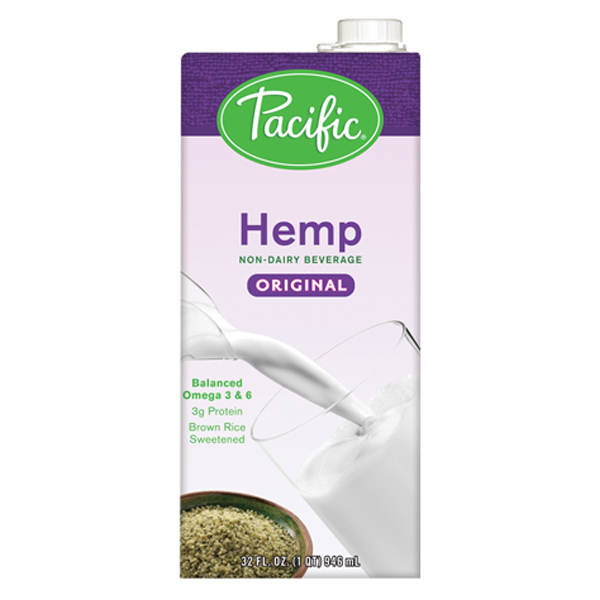 Pacific Natural Foods Original Hemp Milk 32 oz Containers - Pack of 12