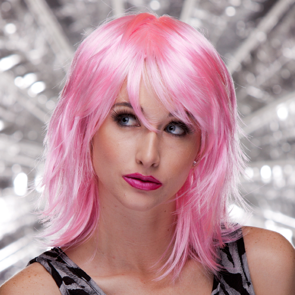 Blush KHARMA Fantasy Style Synthetic Wig - Cotton Candy Pink
