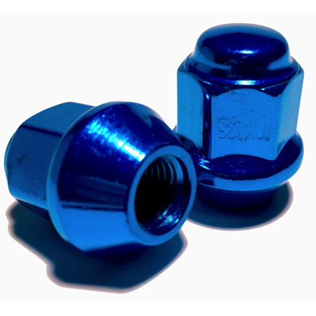 - Blue Tapered Base Lug Nut Set 10x1.25 17mm Hex ATV UTV Kodiak Banshee Raptor