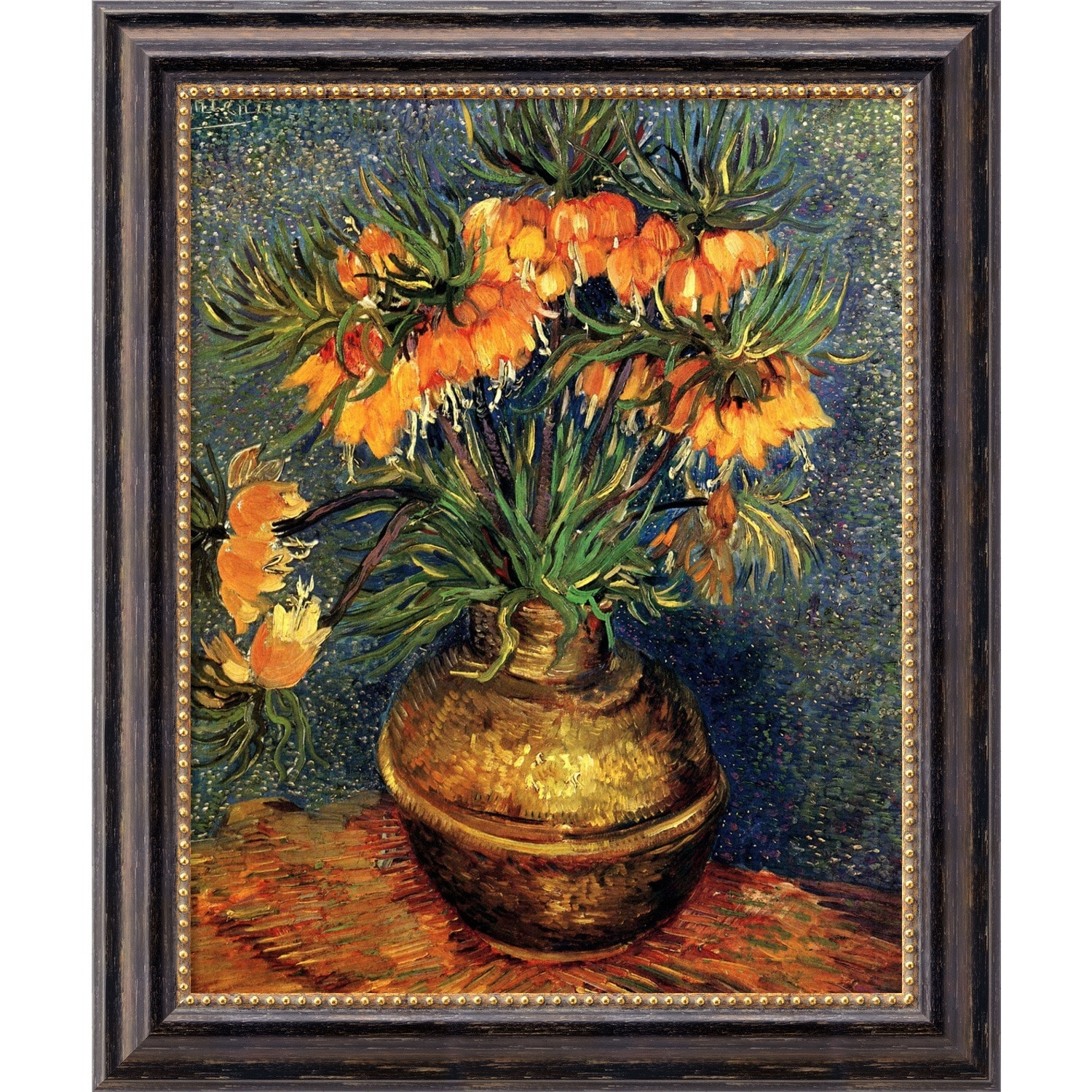 Amanti Art Vincent van Gogh 'Crown Imperial Fritillaries in a Copper Vase, 1886' Framed... by Overstock