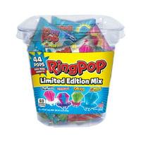Ring Pop Assorted Flavors Lollipops Tub Bulk Variety Pack, 0.5 Oz, 44 Count