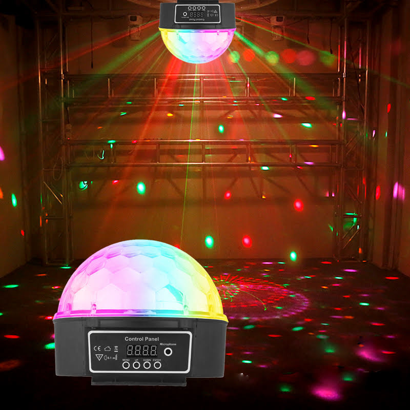 6 Colors LED Crystal Magic Ball Effect Light Disco DJ Stage Party by Ready