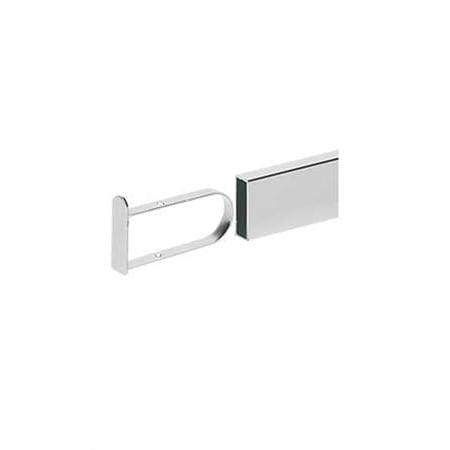 Chrome Flush End Cap for Dimensional Hangrail - Set of 2
