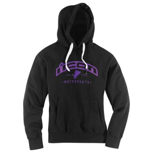 Icon Flagrant Womens Pullover Hoody Black/Purple