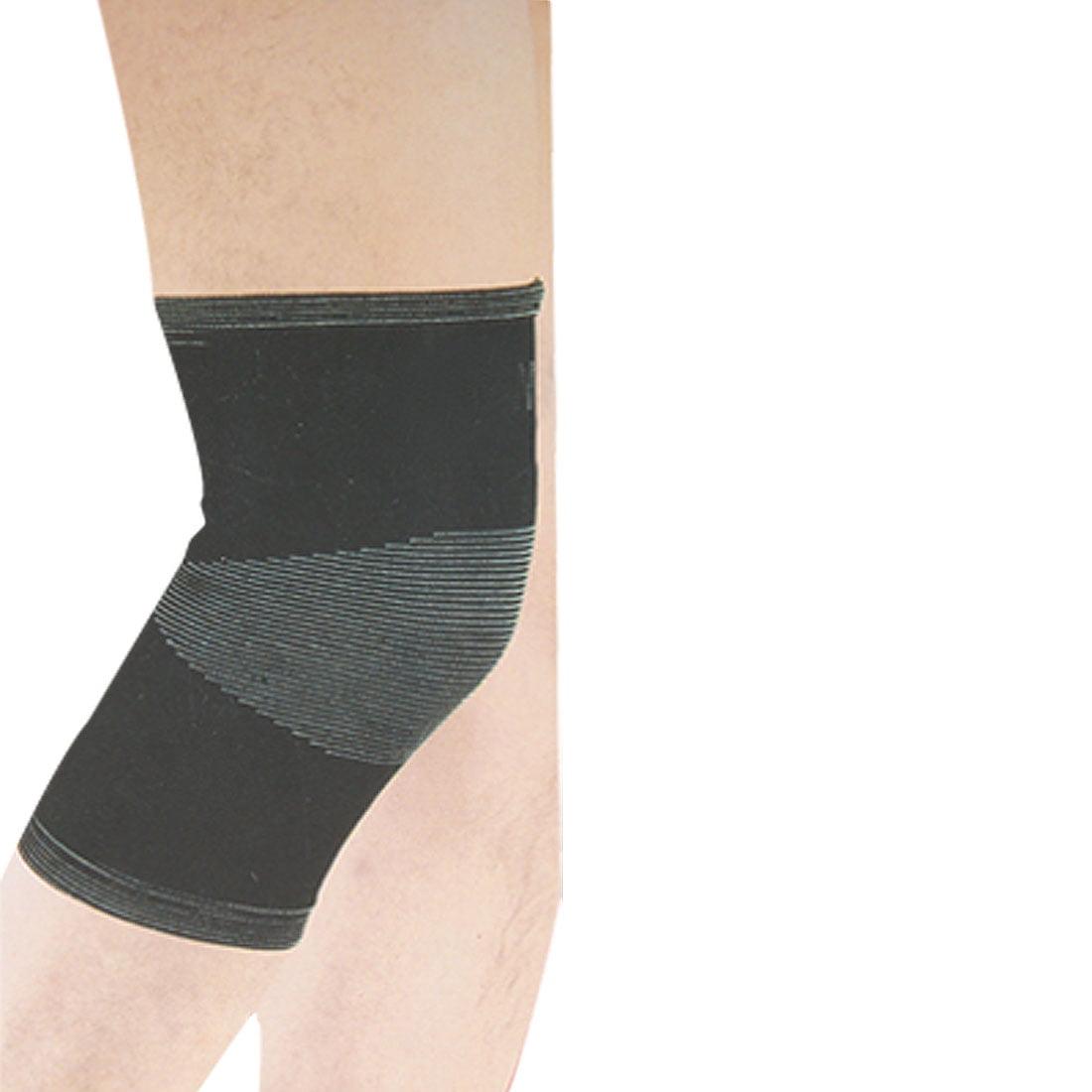 Unique Bargains Elastic Pain Relief Sports Knee Sleeve Br...