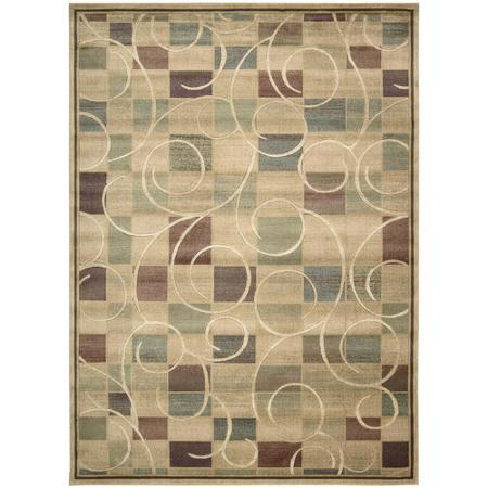 Nourison Expressions Curves and Squares Opulon Yarn Rug