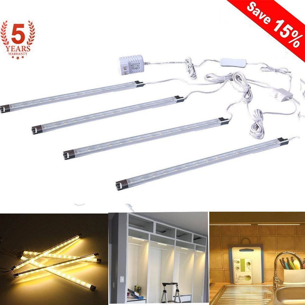 Under Cabinet Lighting Cefrank Bookshelf Light Bar Ul Listed Low Profile Energy Saving Cool To Touch Soft Warm White Walmart Com Walmart Com