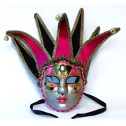 Tramezzino Jester Costume Mask: Pink