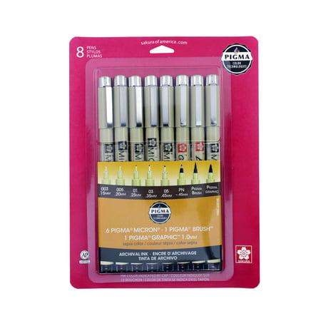 Sakura Pigma Pens, Sepia, 8 Count](Sakura Glaze Pens)