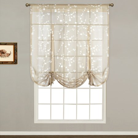 SAVANNAH 40 X 63 WINDOW CURTAIN TIE UP SHADE OYSTER