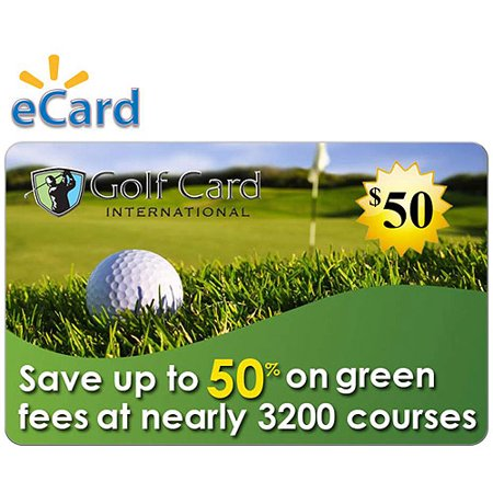 Golf International Membership $50 Gift Card (email (International E Gift Cards)