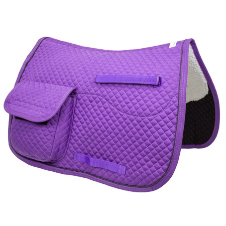 Derby Originals English Saddle Pad with Pockets for Trail Rides & Everyday Use - Plum Purple ()