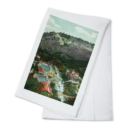 Eldorado Springs  Colorado   Southeastern Aerial View Of The Town  100  Cotton Kitchen Towel