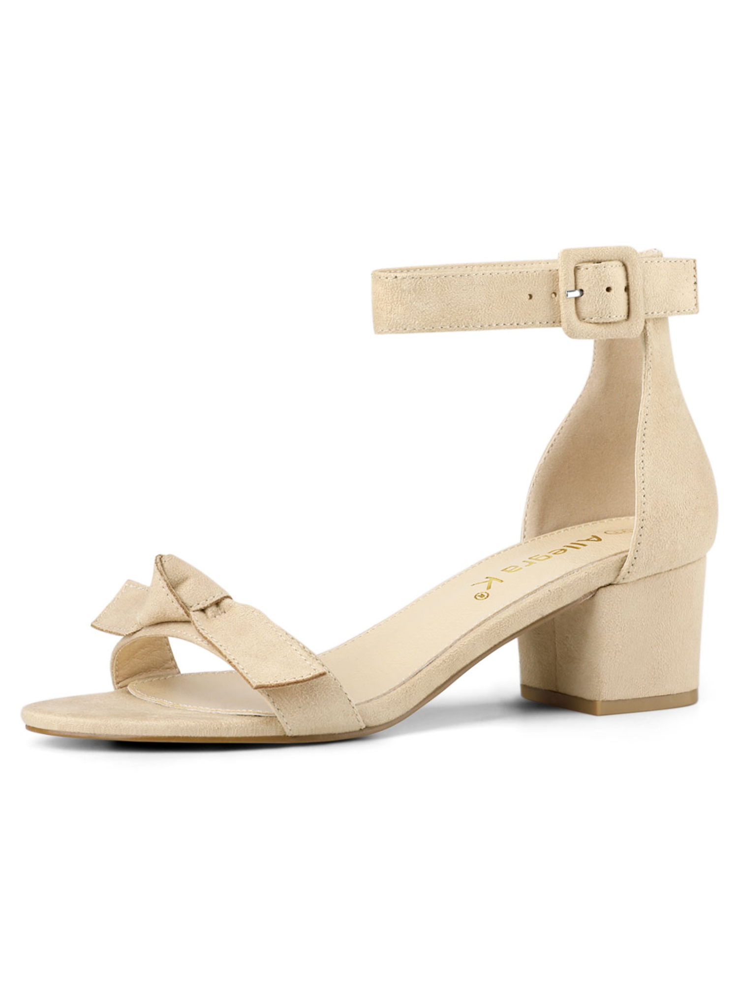 Women's Girls Ankle Strap Chunky Low